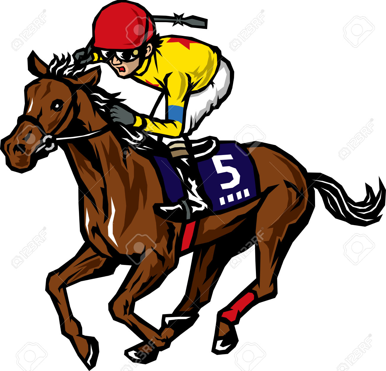 Racer clipart (1 mb) Horse Clipartner Clipart