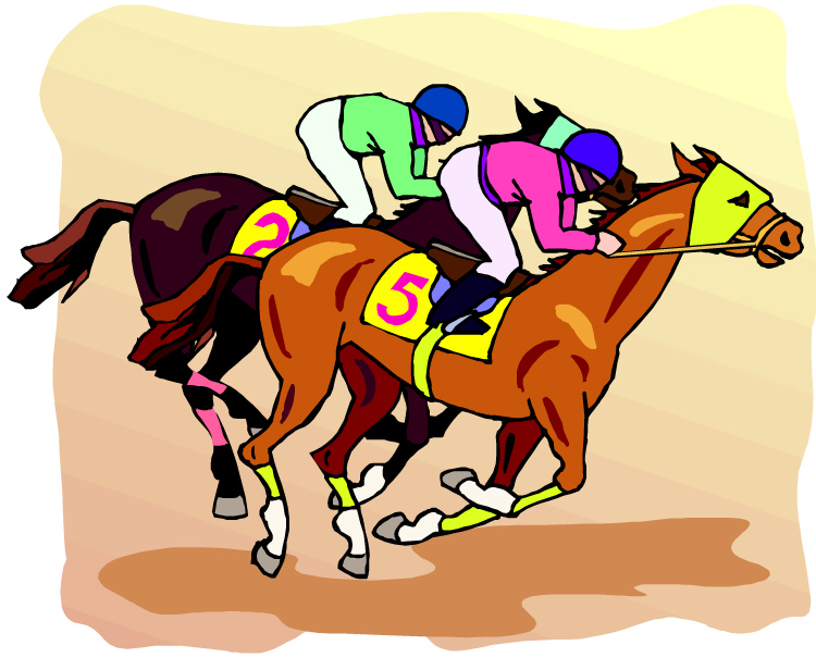 Horse Racing clipart fast animal #7