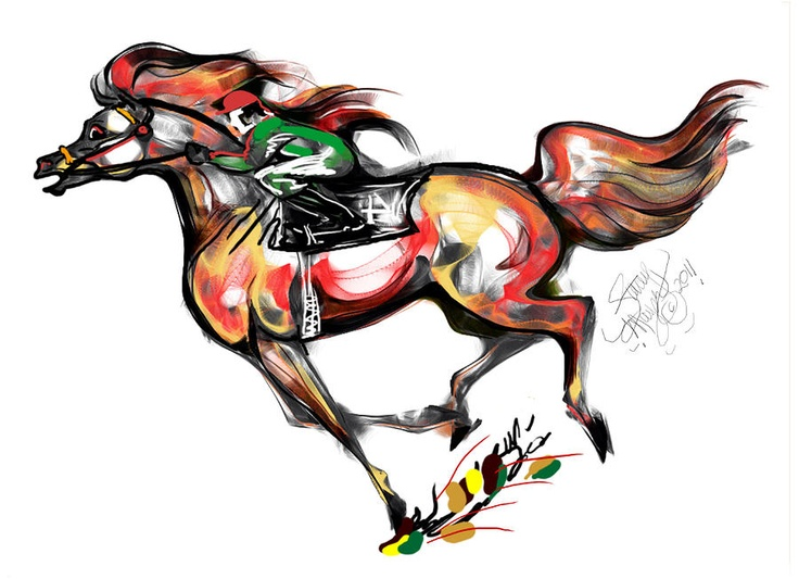 Horse Racing clipart fast animal #5