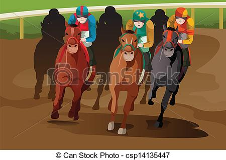 Horse Racing clipart racetrack #2