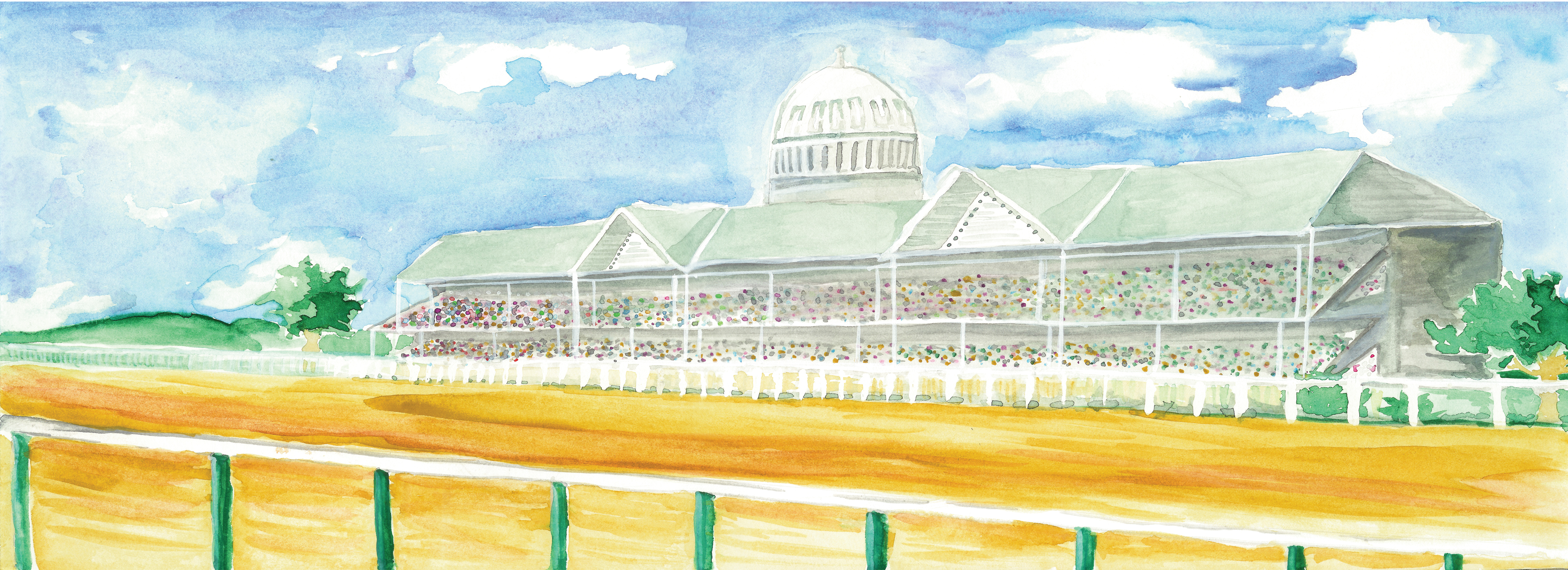 Horse Racing clipart racetrack #5