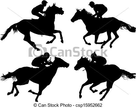 Horse Racing clipart vector Horse white of Racing Vector