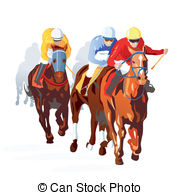 Horse Racing clipart vector Horse of Horse Editable of