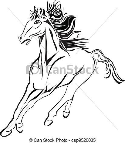 Horse Racing clipart wild animal Horse Vector of horse stock