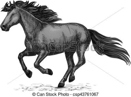 Horse Racing clipart wild animal Vector csp43761067 Clip horse horse