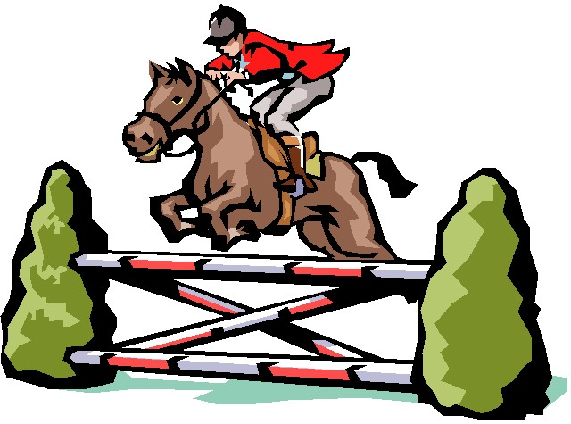 Fence clipart horse jumping #1