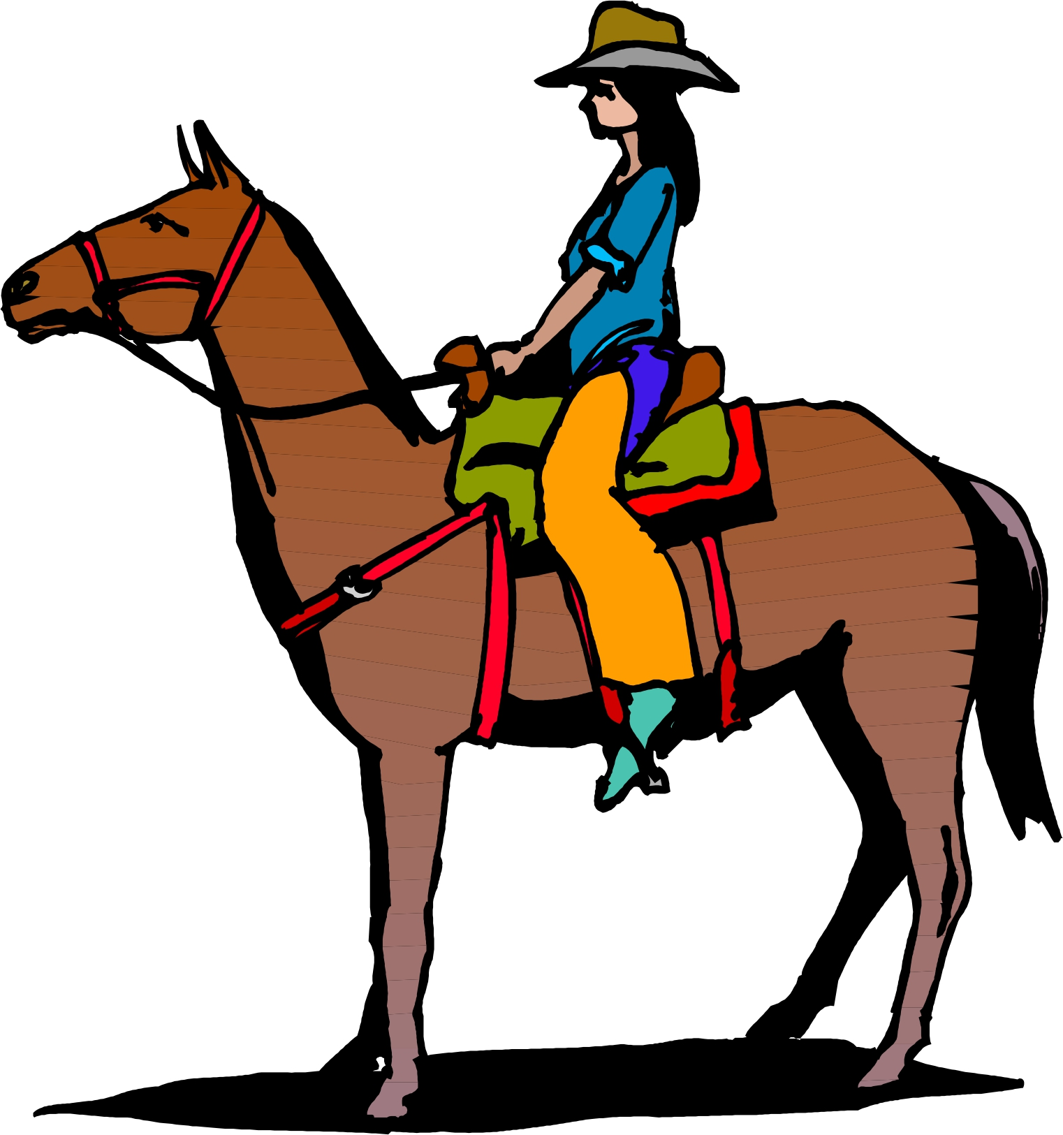 Cowgirl clipart riding horse Photo#2 Horse Horse Riding riding