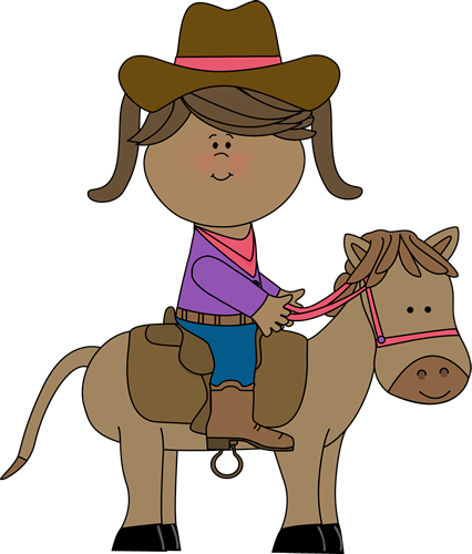 Horse Riding clipart Free Cowgirl  4389 Horse