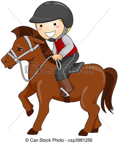 Horse Riding clipart swim Csp3981256 Riding Horseback Horseback of