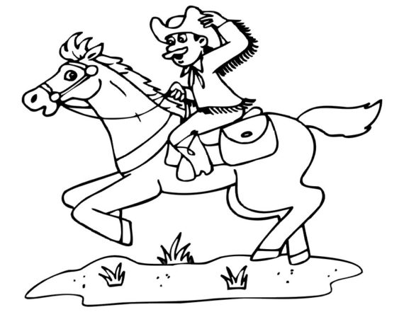 Horse Riding clipart black and white Riding Free And White Black
