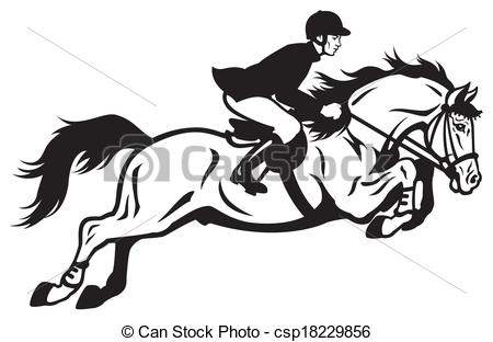 Horse Riding clipart black and white Horse Vector equestrian white rider