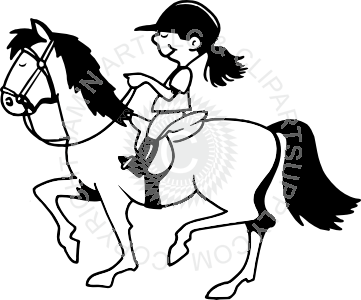 Horse Riding clipart black and white Riding White in Horse Black