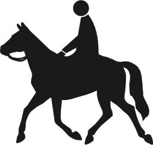 Horse Riding clipart black and white Riding Download Riding Horse Clip