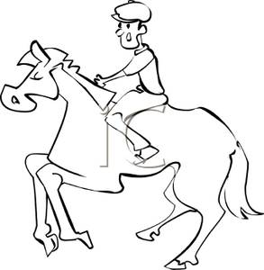 Horse Riding clipart black and white Riding photo#19 black clipart and