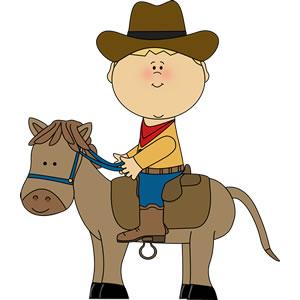 Cowboy clipart little boy Boy Horseback Boy photo#2 clipart