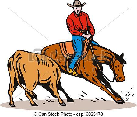 Horse Riding clipart cowboy horse Riding Illustration csp16023478 Riding Horse