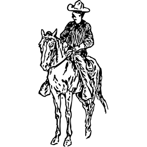 Horse Riding clipart cowboy horse (wmf eps cliparts clipart of