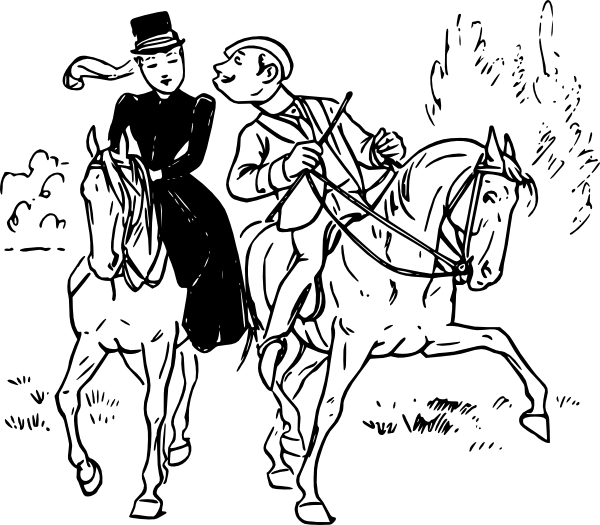 Horse Riding clipart drawing person Riding Art free royalty art
