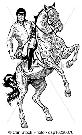 Horse Riding clipart drawing person Rider of Illustration rider rider