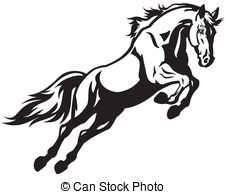 Fence clipart horse jumping #4