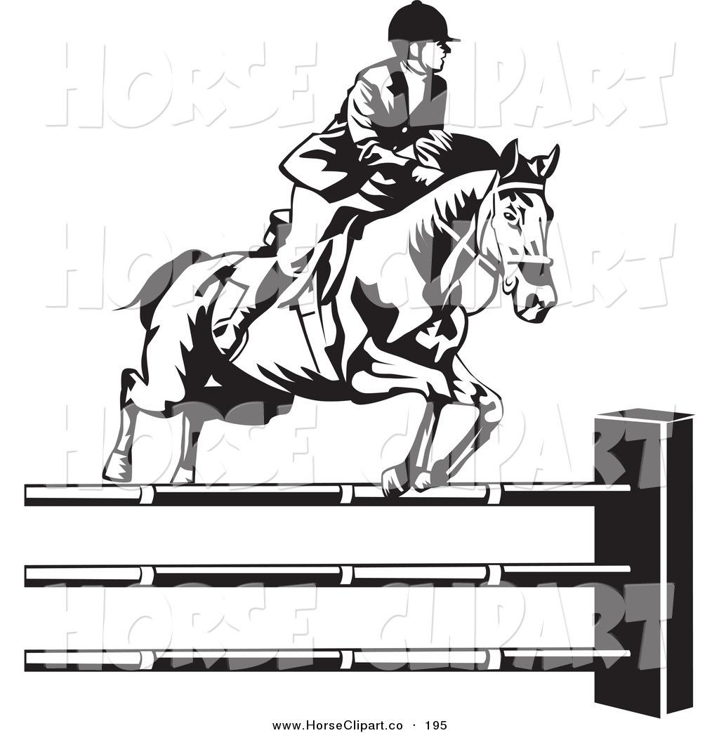 Horse Riding clipart horse jumping White Riding Hurdles Clip White