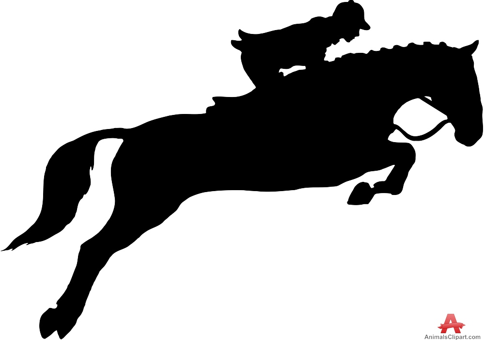Fence clipart horse jumping #6