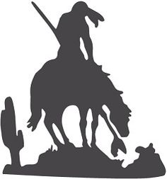 Horse Riding clipart indians Indian a eps vector silhouette