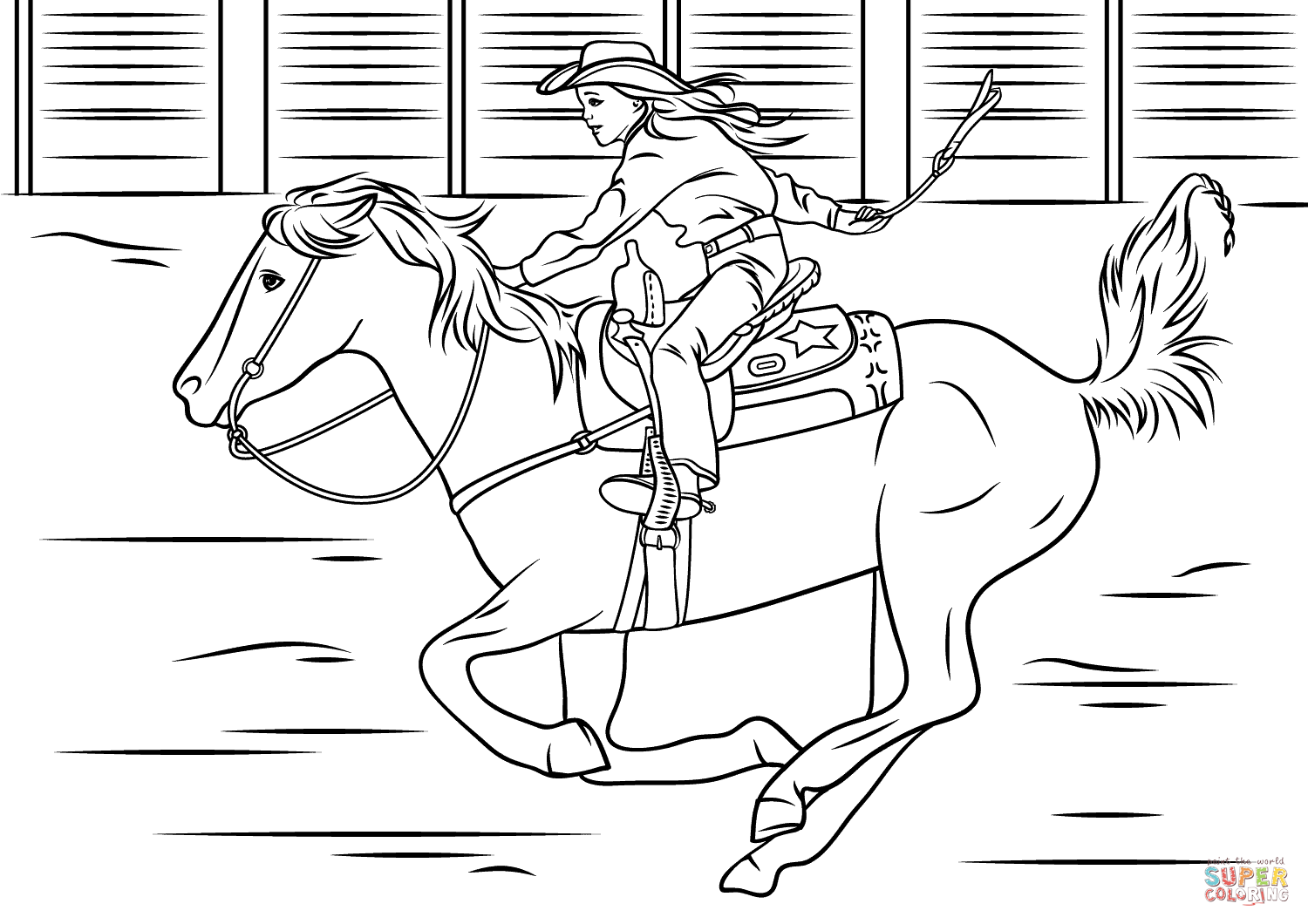 Horse Riding clipart little cowgirl Page Riding Riding coloring Pages