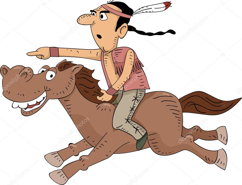 Horse Riding clipart native american Native — Riding — Horseback