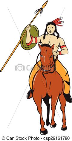 Horse Riding clipart native american Vector Indian American Riding Indian