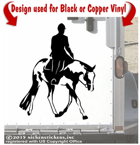 Horse Riding clipart paint horse Custom American & Saddle Decals