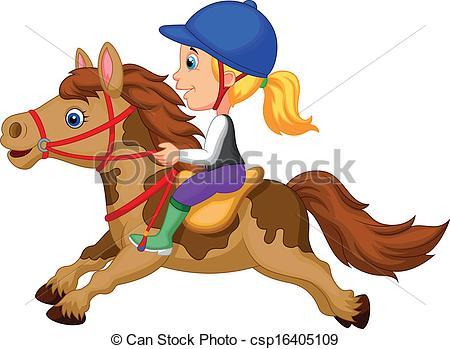 Horse Riding clipart pony ride Little Cartoon riding a Clipart