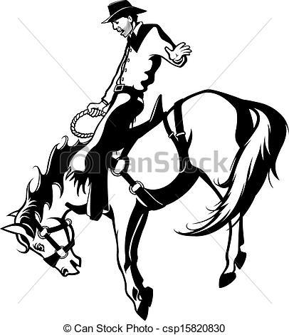 Horse Riding clipart saddle Rider bronc Bronc  Bronc