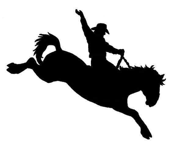 Cowboy clipart bronc riding Bronc car original Sticker Decal