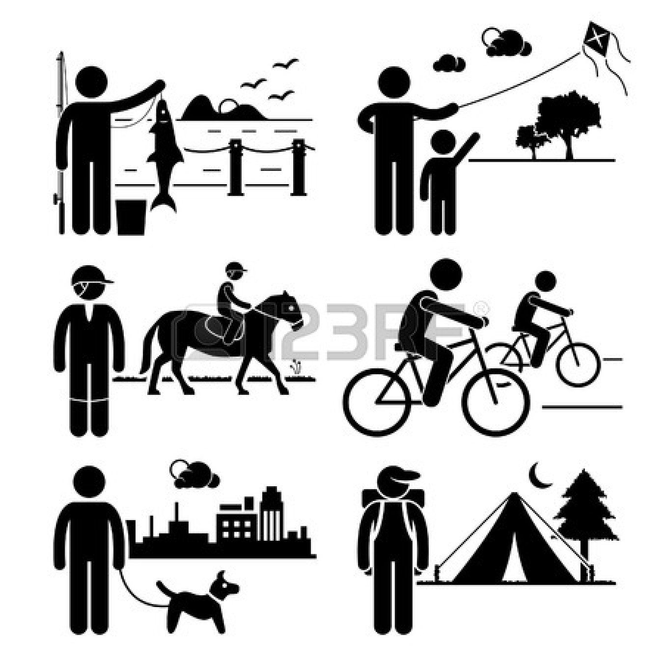 Horse Riding clipart stickman Fishing Walking Cycling Horse Recreational