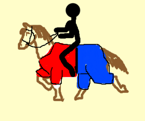 Horse Riding clipart stickman Wearing race Clothes stickman horse