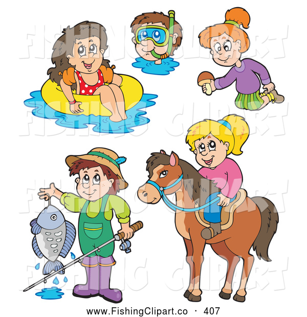 Horse Riding clipart swim Of Summer Fun Recreation Collage