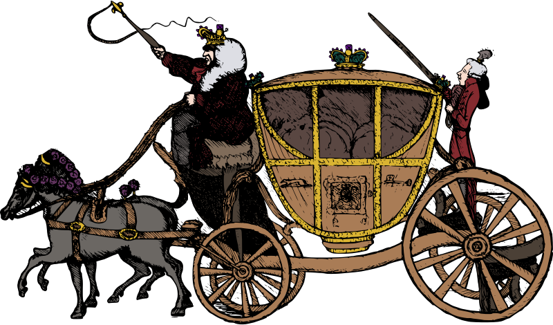 Cart clipart horse drawn wagon Carriage Free Clip  Horse