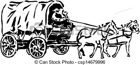 Horse-drawn Carriage clipart  Clipart Drawn Horse Wagon