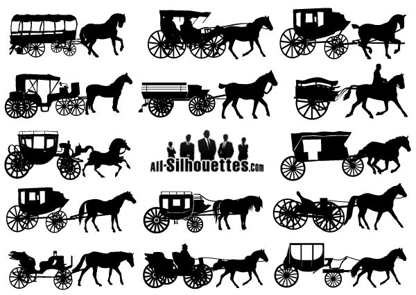 Drawn vehicle illustrator Free Carriage Drawn Vector Carriage