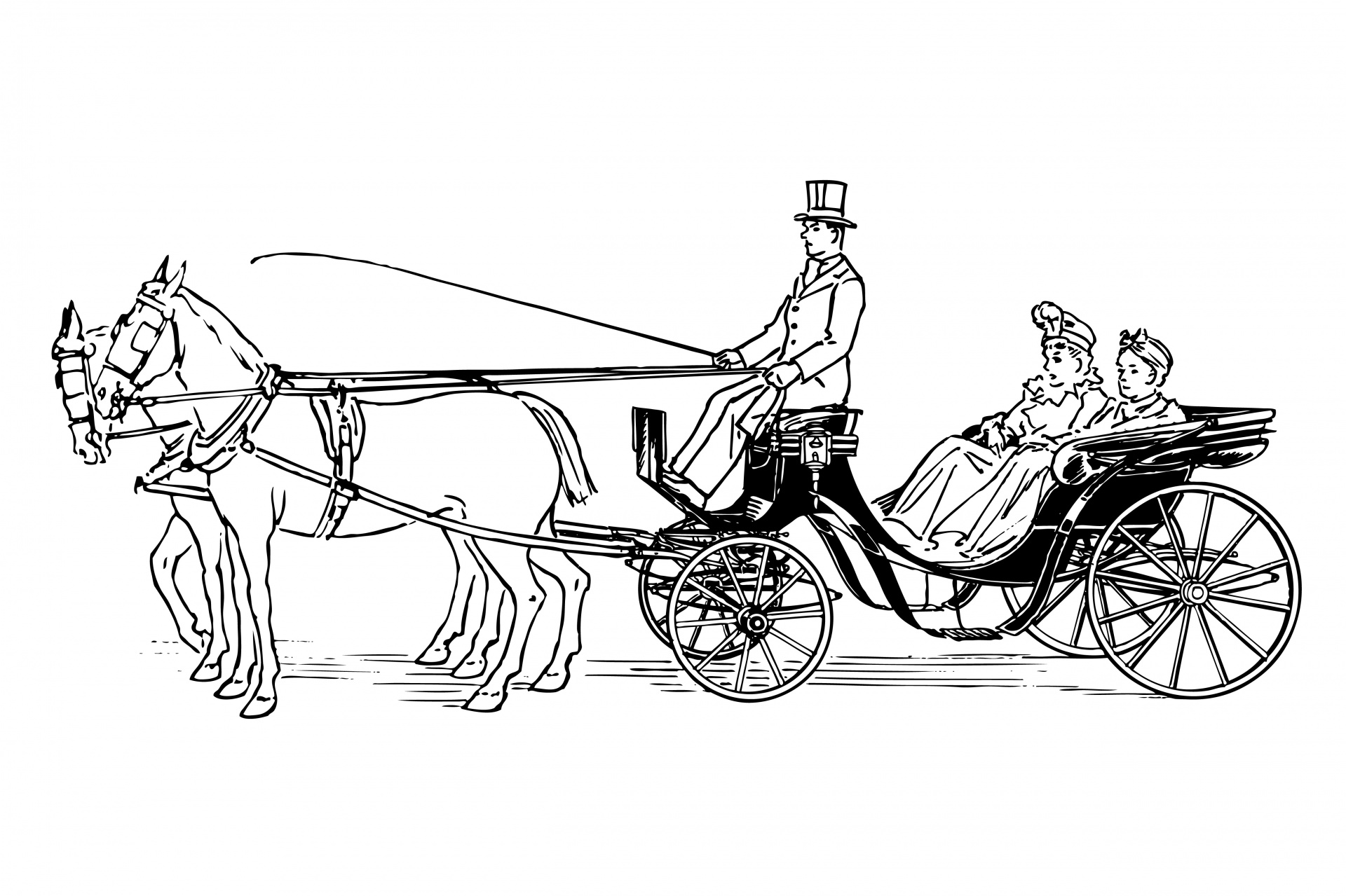 Cart clipart horse and buggy Drawn Carriage Carriage Photo Horse