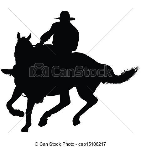 Horsemen clipart Lone Clip Horseman Vector rider