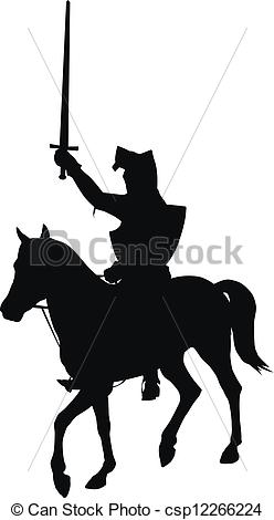 Horsemen clipart Sword Vector Vector horseman riding