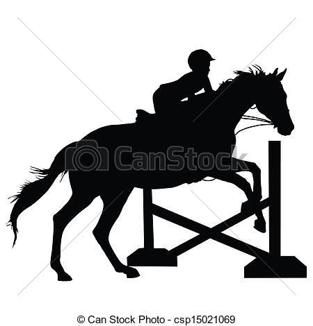 Fence clipart horse jumping #2