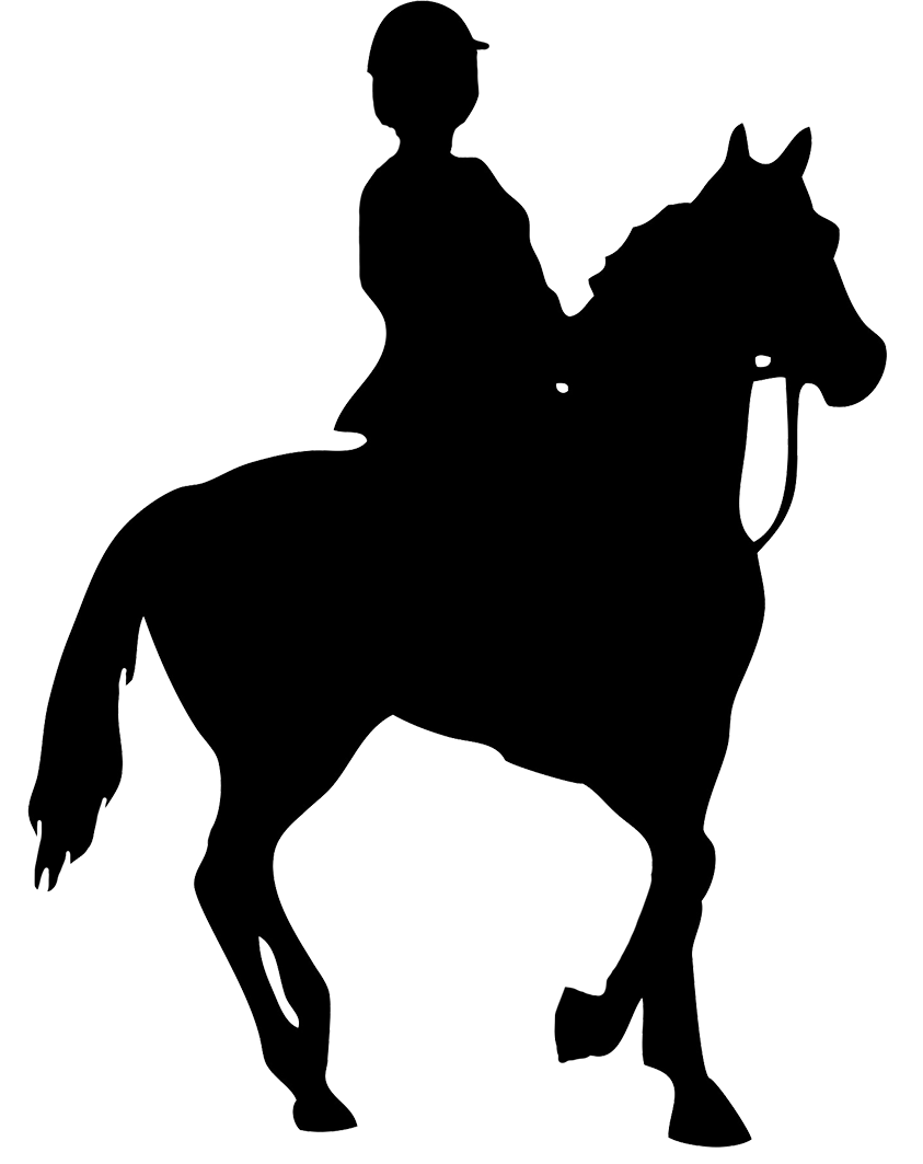 Horse Riding clipart saddle Of Horses silhouette  of