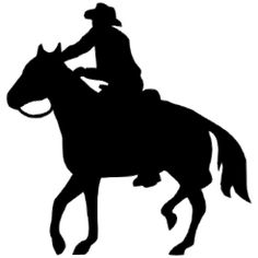 Cowboy clipart riding horse Paintings Running as COWBOY Clip