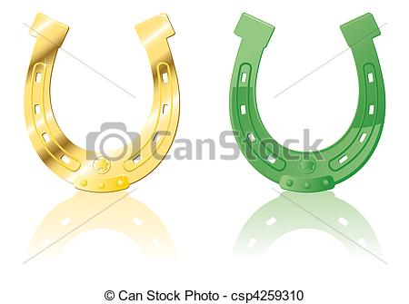 Horseshoe clipart green #2