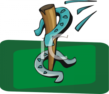Horseshoe clipart green #9