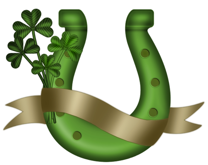 Horseshoe clipart green #8