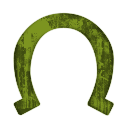 Horseshoe clipart green #3